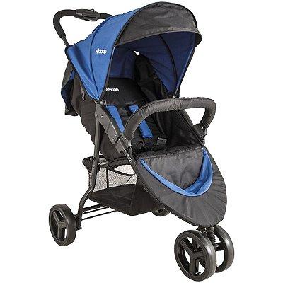 Carrinho de Bebe para Passeio e Berço Kiddo Trio Azul