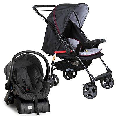 Carrinho de Bebe Bebe Conforto e Base Galzerano Milano II Preto