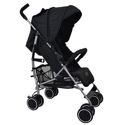 Carrinho de Bebê Genua ABC Design Woven Black Preto