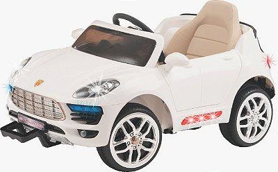 Carro Elétrico Biemme Car One PS Branco 12 Volts com Controle Remoto