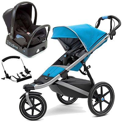 Carrinho de Bebe Urban Glide 2 Azul com Bebe Conforto Citi Maxi Cosi Preto