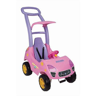 Carrinho Infantil Passeio Roller Baby Fit Com Som E Luz Rosa