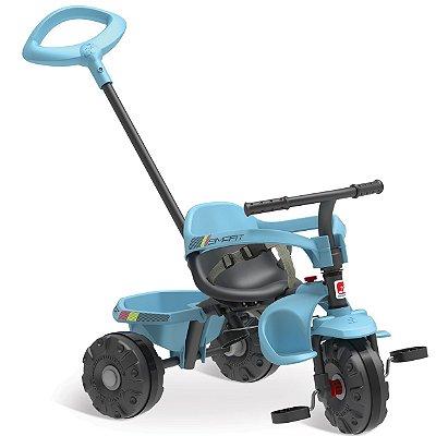 Triciclo Infantil Bandeirante Smart Plus Pedal e Passeio Azul