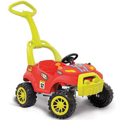 Carrinho de Passeio e Pedal Smart Bandeirante Vermelho