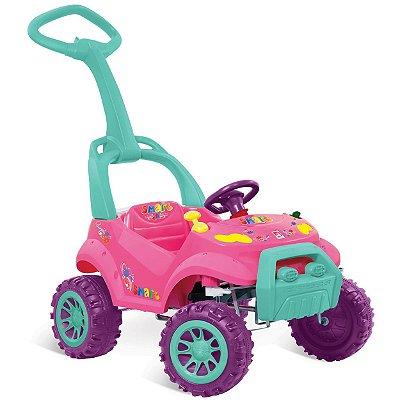 Carrinho de Passeio e Pedal Smart Bandeirante Rosa