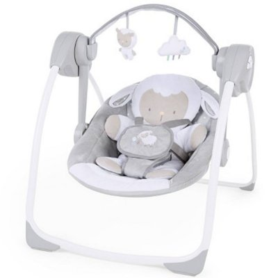 Cadeira de Descanso Ingenuity Comfort 2 Go Portable Swing Cuddle Lamb Ovelha