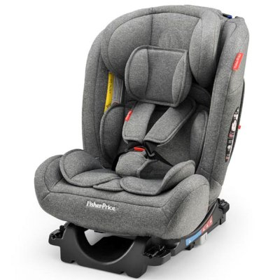 Cadeirinha para Carro Fisher Price All Stages Fix 2.0 Cinza 0 a 36 Kg