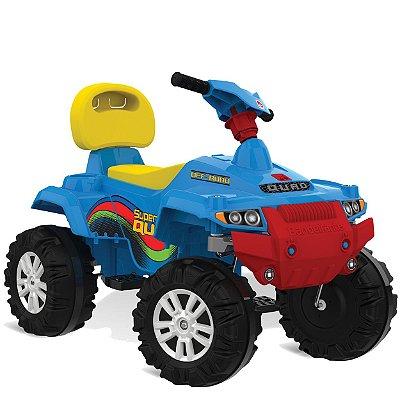 Carrinho de Passeio e Pedal Bandeirante Superquad Azul Quadriciclo 592