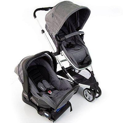 Carrinho de Bebe Bebe Conforto e Base Infanti Sky Grey Classic Cinza