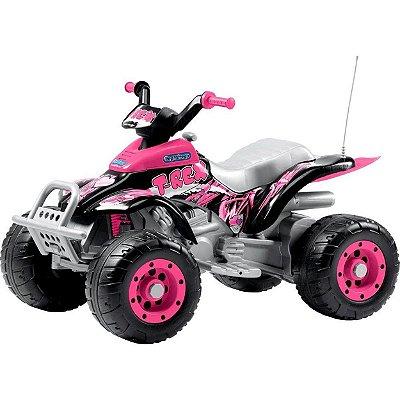 Quadriciclo Peg-Perrego Corral T-Rex New Pink 12V Rosa