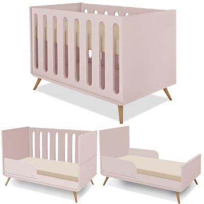 Berço Retro Mini Cama Planet Baby Padrao Americano Old New Rose