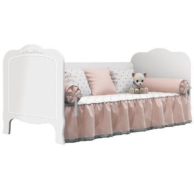 Cama Baba Planet Baby Imperial New Branco Acetinado