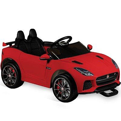 Veiculo Eletrico Bandeirante Jaguar Vermelha 12V com Controle Remoto