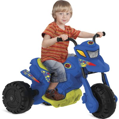 Moto Eletrica Infantil Bandeirante XT3 6V Azul