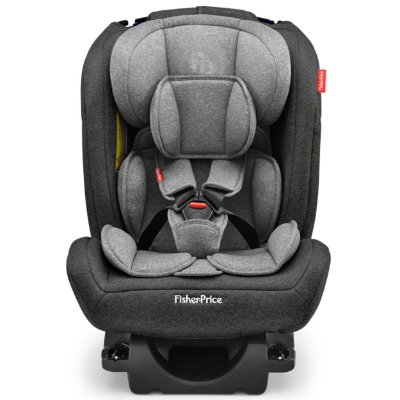 Cadeirinha para Carro Fisher Price All Stages Fix 2.0 Preto Cinza 0 a 36 Kg