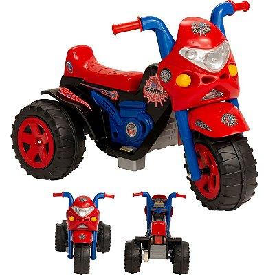 Moto Eletrica Infantil Biemme GP Raptor Spider Vermelha 6V