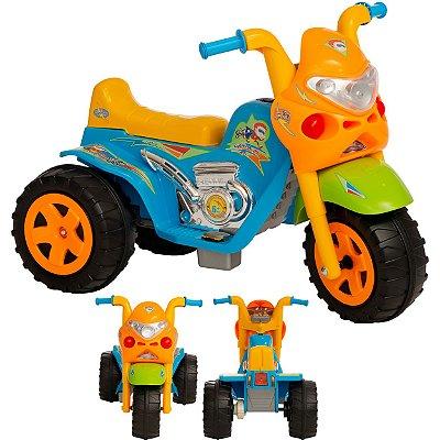 Moto Eletrica Infantil Biemme GP Raptor Super Boy Azul 6V