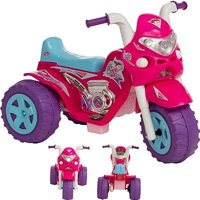 Moto Eletrica Infantil Biemme GP Raptor Super Girl Rosa 6V