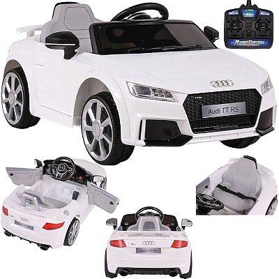 Carro Eletrico Belfix Audi TT RS 12V Controle Remoto Branco