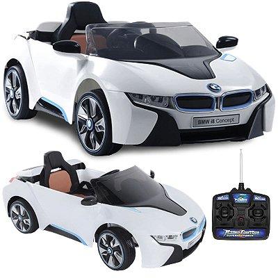 Carro Eletrico Infantil Bel BMW i8 6V Controle Remoto Branca