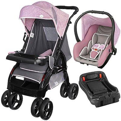 Carrinho Passeio Bebe Conforto Base Tutti Baby Upper Rosa