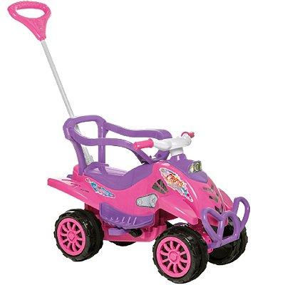 Quadriciclo Passeio e Pedal Calesita Cross Turbo 2 em 1 Pink