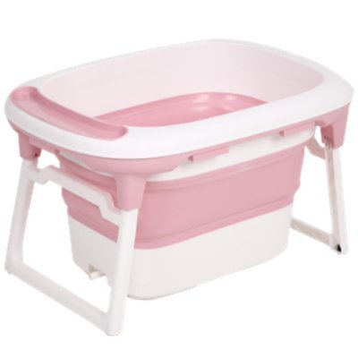 Banheira de Bebe Dobravel Portatil Baby Pil Media Rosa 100L