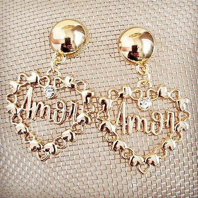Brinco dourado Coração do Amor