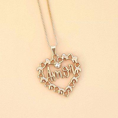 Colar dourado Coração do Amor
