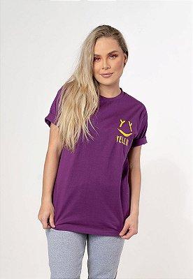 Camiseta Smile Yellou Roxa
