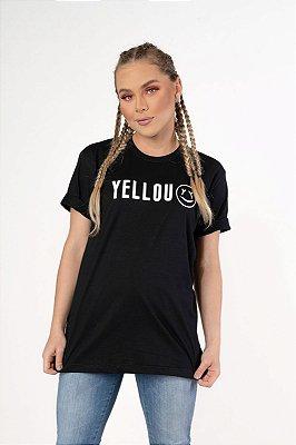 Camiseta Yellou Smile Preta