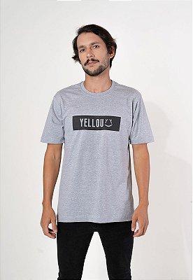 Camiseta Ret Yellou Cinza com Preto