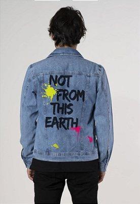 Jaqueta jeans basic estampada Yellou Street