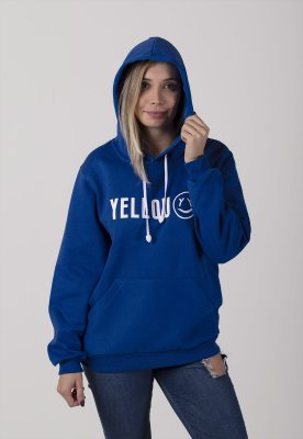 Moletom canguru Yellou Azul Bic