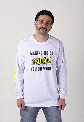 Camiseta Yellou Manga Longa Branca