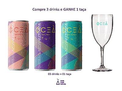 Oceà Pack Desfrute: Compre 3 drinks e ganhe 1 taça