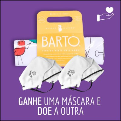 KIT  DIÁRIO CANINO MINI + MASCARA BRANCA