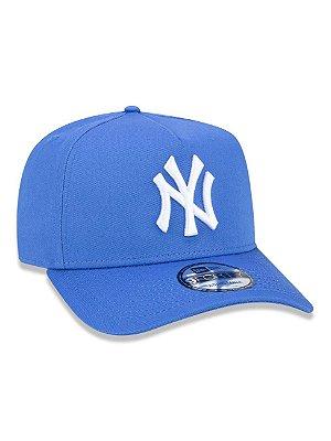 BONÉ 9FORTY A-FRAME ABA CURVA AJUSTÁVEL MLB NEW YORK YANKEES - Azul com branco