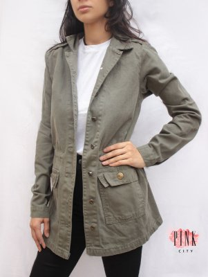 081bf2be77 Parka Verde Militar - Lady Rock - Pink City