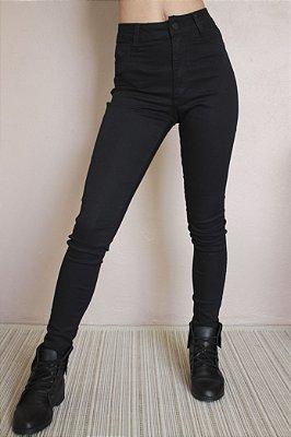 e2354b60693a4 Calça Hot Pants Cintura Alta Preta - Lady Rock