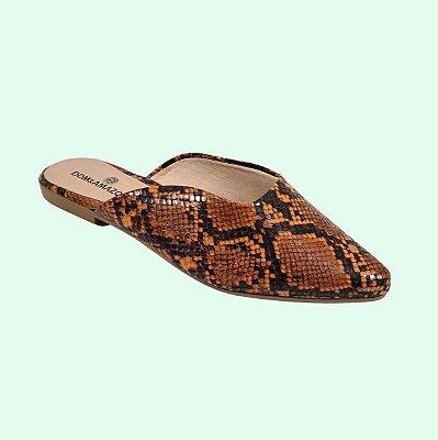 Mule Bico Fino Cobra Nozes Dom Amazona Numeração Especial 23584