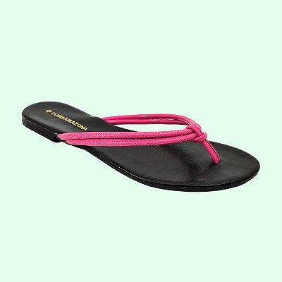 Rasteira Feminina Numeração Especial Dom Amazona Preta Pink 2050883