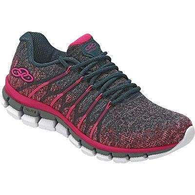 792f688244 Tênis Feminino Olympikus Diffuse 2 Pink Petróleo Caminhada Cód 20