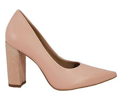 Sapato Salto Grosso Numeros Especiais Nude Dom Amazona Cd 479