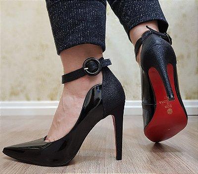 Sapato Scarpin Feminino Salto Dom Amazona Preto Cód443