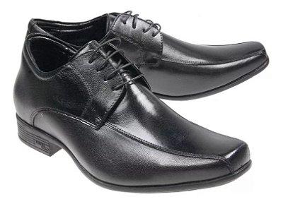 Sapato Social Jotape Air Bag 6,5 cm Couro 78400 Cadarço Cód 147