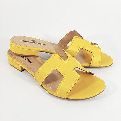 Chinelo Rasteira Slide Númeração especial 33 ao 44 Amarelo Cd489