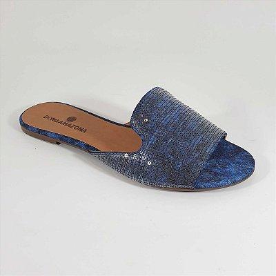 Tamanco Feminino Rasteiro Jeans Dom Amazona Números Grandes CD 597