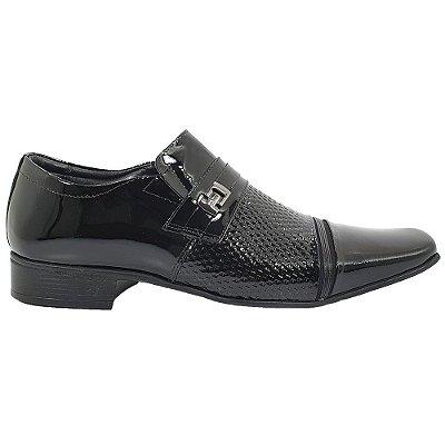 Sapato Masculino Jota Pe Airbag Couro 32022 Preto Verniz