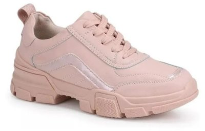 Tenis Feminino Casual Facinelli Mooncity 52210 Rosa Cd 641